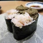 磯のがってん寿司 - かに味噌軍艦