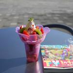 山梨県笛吹川フルーツ公園くだもの館・トロピカル温室 - 料理写真:パフェ~☆