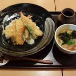 あっぱれ天風 - 天丼とミニうどん980円