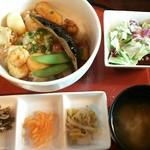 羅布乃瑠沙羅英慕 - 料理写真:海鮮照り焼き丼定食セット