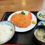 龍ヶ崎どらいぶいん - 料理写真:ジャンボコロッケ定食680円 リーズナブルな価格ですw
