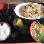 隈屋 - 料理写真:カツとじ定食=790円