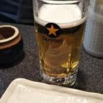 かしら屋 - 生ビール(中) 500円♪