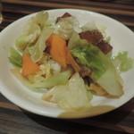 陳家私菜 - 野菜炒めかと思ったら、これが唐揚げでした