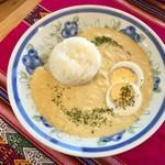 さとのぶカフェ - 料理写真:アヒ デ ガジーナ(ペルー風カレー)/1,000円(※スープ込)