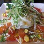 天然素材 海家 - アボカドとサーモンのサラダ