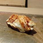 菊鮨 - ◆穴子(対馬)・・口の中に入れるとトロケマス。ツメもいい味わい。