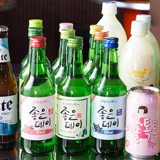 韓国料理には本場のお酒をご一緒に♪韓国ビールをお試しあれ