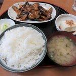 母里屋 - 豚なす炒め定食(ご飯大盛り)2018.01.30