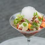 Francais La Porte - 北海ホタテとズワイガニのサラダ カクテル仕立て