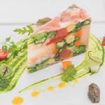 Francais La Porte - シェフのスペシャリテ<彩野菜のケーキ仕立て>