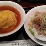 小麦LAND - 天津飯と皿うどんのランチ