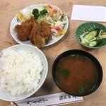 大衆割烹 三州屋 - かきフライ定食 ¥1,350- 2018.1.31 Wed.