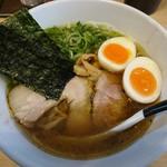 麺屋M - 味玉海薫るそば850円(麺少なめ)