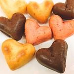 カリーノ - Cupid*ハート型のドーナツ。チョコはバレンタイン限定。