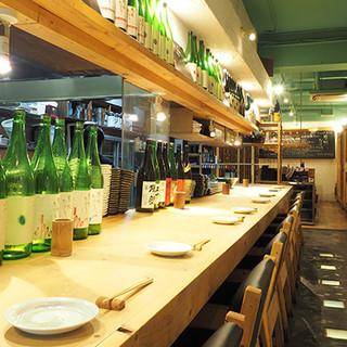自慢の串料理と相性抜群!厳選した日本酒もお楽しみください!!