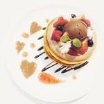 ノイモンド オーガニック カフェ - 2月限定メルティショコラパンケーキ