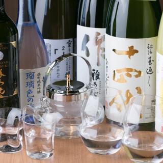 《豊富な日本酒》常時10種類以上ご用意