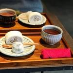80226207 - 黒豆塩大福、塩黒豆ロールケーキ しろ、黒豆茶