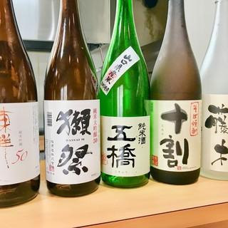 店主の出身地、山口県産の日本酒を多数ご用意しております
