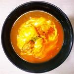 あぶりどり バリ鳥 - オムチキンカレー丼