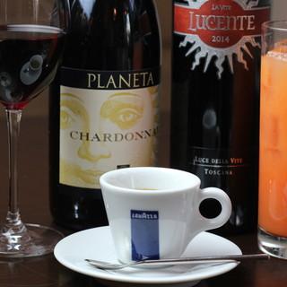 ◆ワイン・コーヒー◆イタリアンとご一緒にお楽しみください