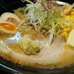 麺屋のろし - のろし味噌ラーメン 850円 味玉 100円 バター 100円 コーン 100円