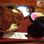 とん亭 - 八重うまっソースかつ丼(¥1380)