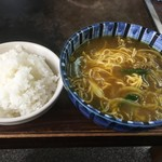 赤のれん - 料理写真:カレーラーメン&めし