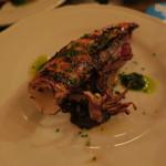 トネリコ - 小ヤリイカの網焼き 栗とパセリのソース