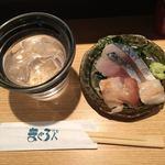 まぐろ人 - 富乃宝山ロックに〆鯖とミル貝