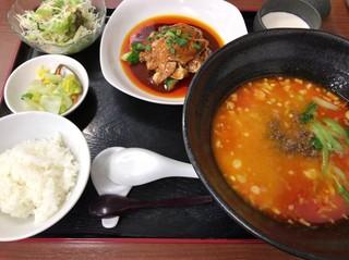 杏亭 - 坦々麺ディナーセット1,300円