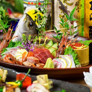 目利きが選ぶ旬のお刺身や和の職人が作る一品料理をご堪能下さい