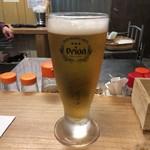 琉球立飲酒場カッシーズバー ゆくい - 2018年01月25日  オリオン生ビール(センベロセット)