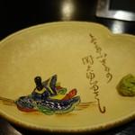 鯨料理 徳家 - (2017/12月)お皿の絵が素敵でした