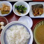 港北食堂 - 焼魚定食(鯖)