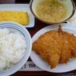 港北食堂 - アジフライ定食