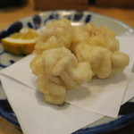 炉端 百式 - タラ白子天ぷら2