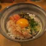 炉端 百式 - 博多のTKG 明太子と高菜で2