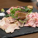 フランダース テイル - お肉のロースト3種の盛り合わせ