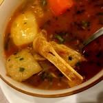 AMAN KITCHEN - ラムの骨スープ ハーフ700円