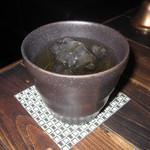 ビストロ がぶり - 飲み放題ドリンク「梅酒(ロック)」