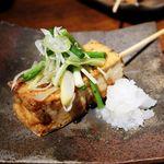 荒木山 - 野菜串(厚揚げ薬味乗せ)