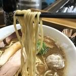 80256018 - 【2018.1.16】村上朝日製麺の中太麺。