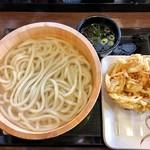 丸亀製麺 - 釜揚げうどん・野菜かき揚げ