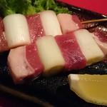 旬の味 絹や - 島根邑智郡山くじら「猪串焼」