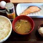 すき家 - 「たまかけ朝定食」390円。