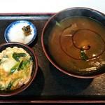 長野屋  - カレーそばとミニ玉丼