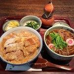 江戸久 - 合せかつ丼 1,100円