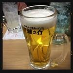 大衆酒場 酒呑んで飯食って蛙之介 - 生ビールで乾杯!
